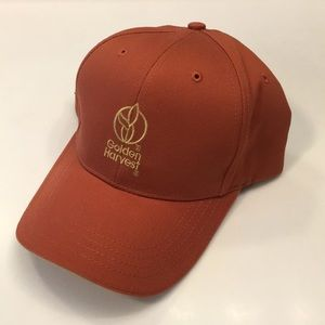 SYNGENTA GOLDEN HARVEST SEED CORN GERY /& BLACK TWILL ORANGE PIPING CAP HAT NEW!